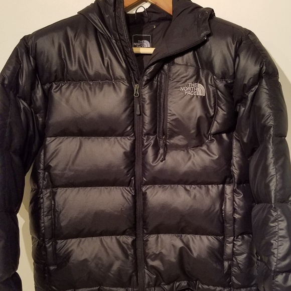 30257a95e Mens North Face hooded puffer jacket